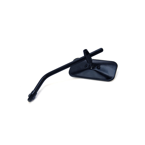 Adjustable Stem Mirror Black Rectangle